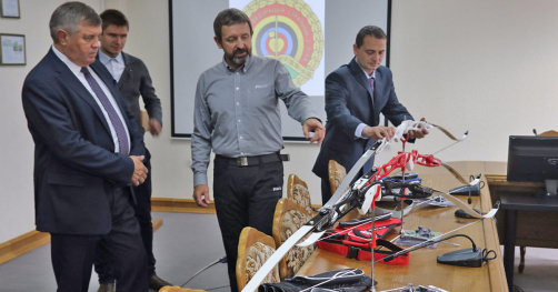 About rendering of the sponsor's help of the Belarus federation of archery