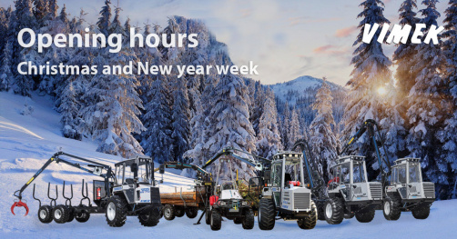 Opening hours during Christmas and New year week